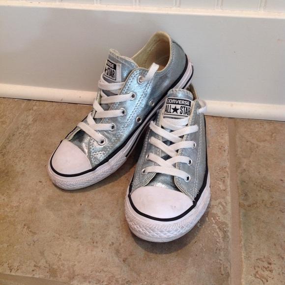 506dd804011e Converse Other - Converse All Star Kids Aqua Metallic Sneakers 1